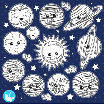 Solar system commercial use,  Black lines, vector graphics, images  - DS1024