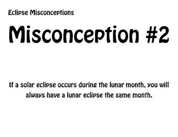 Solar/Lunar Eclipse - Misconception Statements - Group Activity