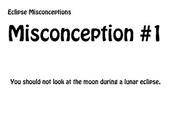 Solar/Lunar Eclipse - Misconception Statements - Group Activity