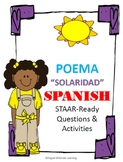 "Solaridad Spanish Poem and activities ""Completely in Spanish"""