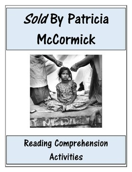 Sold By Patricia McCormick Comprehension Worksheet Bundle