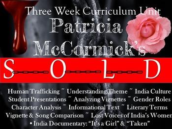 Patricia McCormick's Sold: Common Core Curriculum Unit