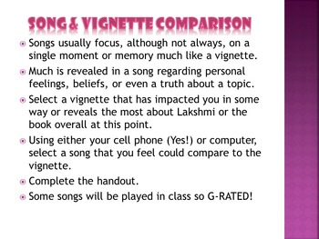 Sold: Modern Day Song & Vignette Comparison Activity