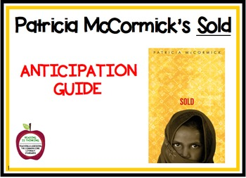 Sold by Patricia McCormick - Anticipation Guide