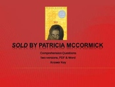 Sold by Patricia McCormick Comprehension Questions with Key