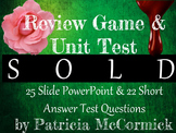 Sold by Patricia McCormick: Review Game & Unit Test