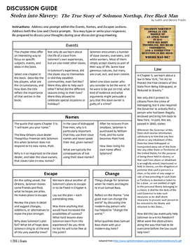 Discussion Guide for Stolen into Slavery:  The True Story