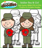 Soldier Boy & Girl with Poppy Freebie