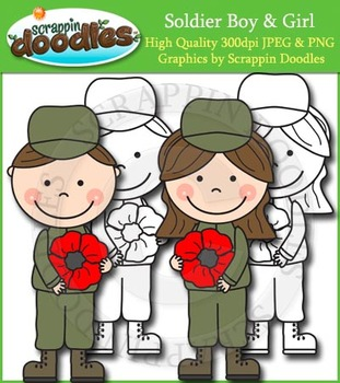 Soldier Boy & Girl with Poppy Freebie