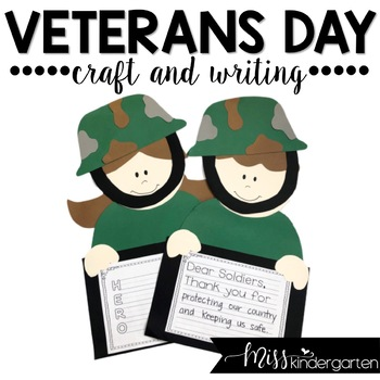 veterans day craft and writing templates by miss kindergarten love