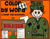 Veteran's Day & Memorial Day SOLDIER Color by Word & Activ