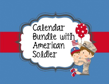 Soldier Heroes Interactive Calendar Bundle with Red, White, and Blue