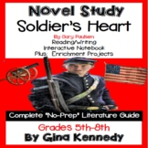 Soldier's Heart Novel Study and Project Menu