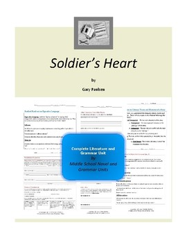 Soldier's Heart Complete Literature and Grammar Unit