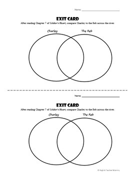Soldier's Heart Novel Exit Tickets
