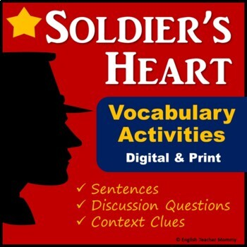 Soldier's Heart Novel Vocabulary (Plus Worksheet)