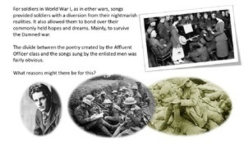 Soldiers are Dreamers: The Songs and Poetry of the Great War