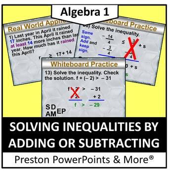 All Things Algebra Solving Inequalities | Teachers Pay Teachers