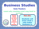 Sole Traders - Types of Business Ownership - Unlimited Liability - PPT & Tasks