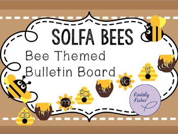 Solfa Bees - Bulletin Board Set