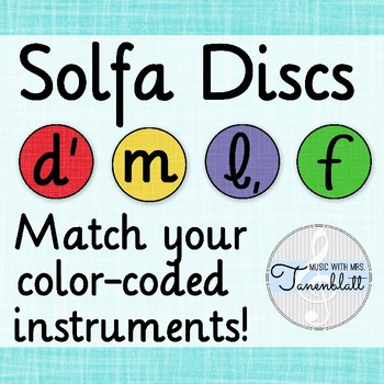 Solfa Discs: Color Coded