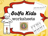 Solfa Kids song worksheets