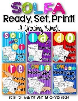 Solfa Ready, Set, Print! - A Growing Bundle