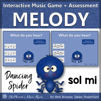 Melody Game: Sol Mi Interactive Music Game & Assessment {Dancing Spider}