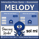 Solfege   Sol Mi Interactive Melody Game + Assessment {Dancing Spider}