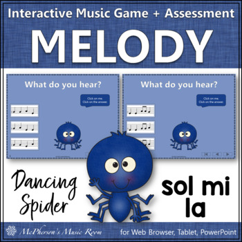 Solfa Sol Mi La - Dancing Spider {Interactive Music Game & Assessment}