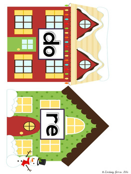Solfa Street (Winter Holiday Theme): Christmas/Winter Music Bulletin Board