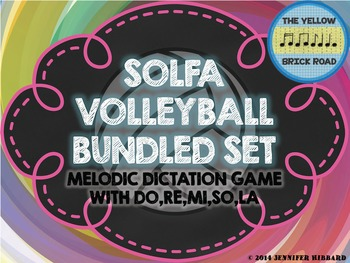Solfa Volleyball Bundled Set: melodic dictation game with do,re,mi,so, and la