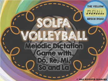 Solfa Volleyball: melodic dictation game with do, re, mi, so, and la