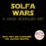 Solfa Wars {A Bundled Set of MP4, Interactive PDFs and Flashcards for Melody}