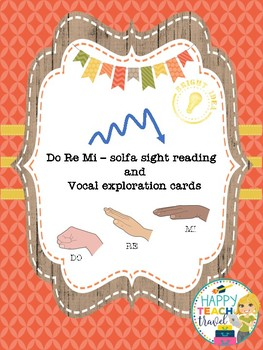 Solfa sight reading and vocal exploration cards