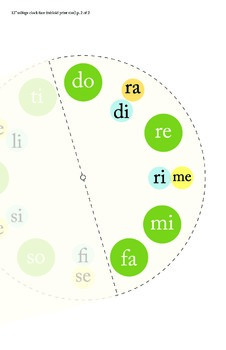 Solfege Clock Face (Green)