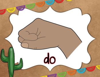 Solfege Curwen Hand Sign Posters: Fiesta