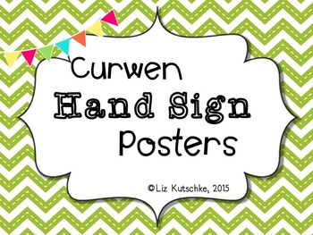 Solfege Curwen Hand Signs Posters