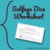 Solfege Dice Worksheet
