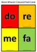 Solfege Flash Cards in Boomwhacker Colours