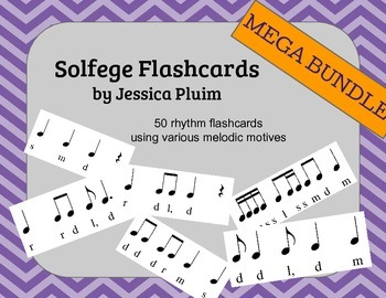 Solfege Flashcards - 50 flashcard bundle