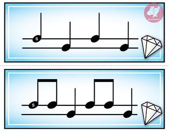 Solfege Flashcards Bundle - Diamond Theme