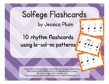 Solfege Flashcards: la sol-mi
