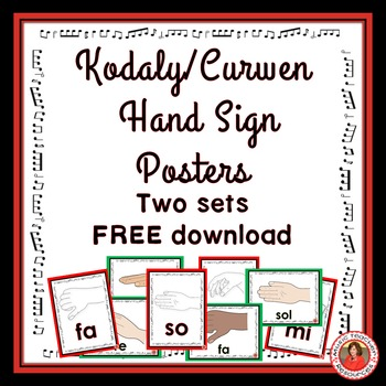 Kodaly / Curwen Hand Sign Posters