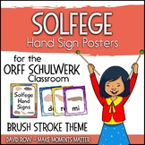 Solfege Hand Sign Posters - Brush Stroke Theme