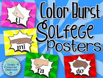 Solfege Hand Sign Posters - Color Burst