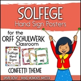Solfege Hand Sign Posters - Colorful Confetti Theme
