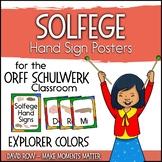 Solfege Hand Sign Posters - Explorer Color Scheme