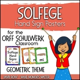 Solfege Hand Sign Posters - Geometric Theme