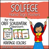 Solfege Hand Sign Posters - Heritage Color Scheme